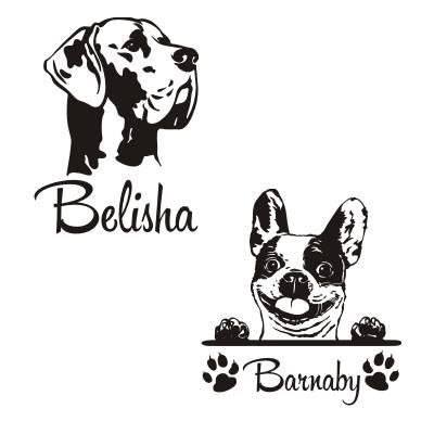 Wandtattoo Französische Bulldogge Zitat Pam Brown Himmel Hunde Aufkleber W4056