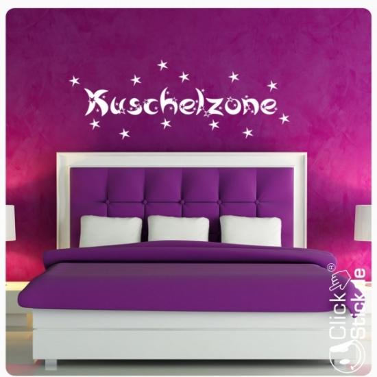 W956 Kuschelzone Wandtattoo Schlafzimmer Wandaufkleber