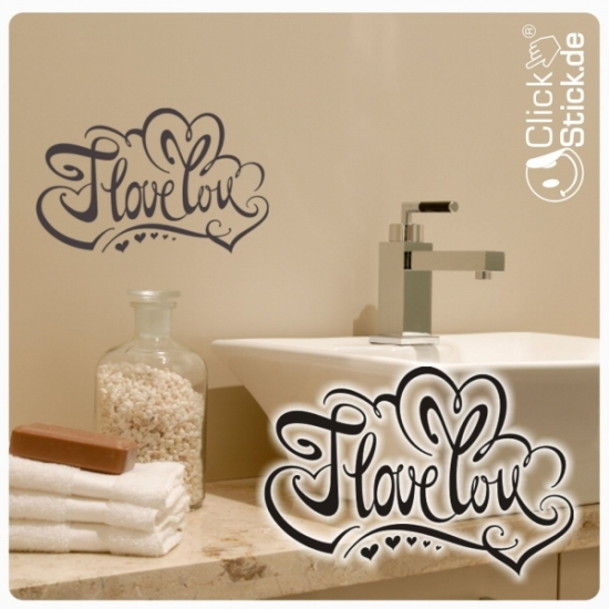 W1407 I Love You Wandtattoo Wandaufkleber Sticker Liebe