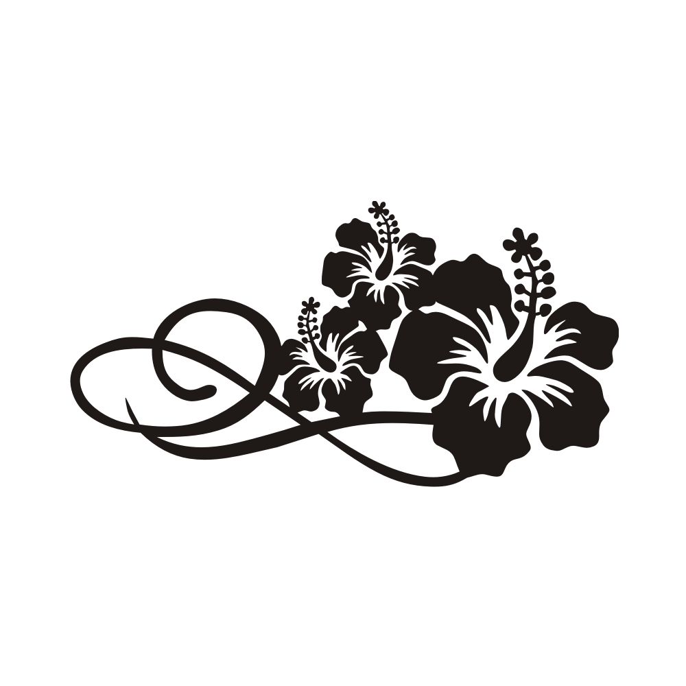 autoaufkleber hibiskus tattoos. Black Bedroom Furniture Sets. Home Design Ideas