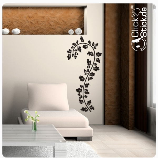 w974 ranke bl tter n sse blumen wandtattoo wandaufkleber. Black Bedroom Furniture Sets. Home Design Ideas