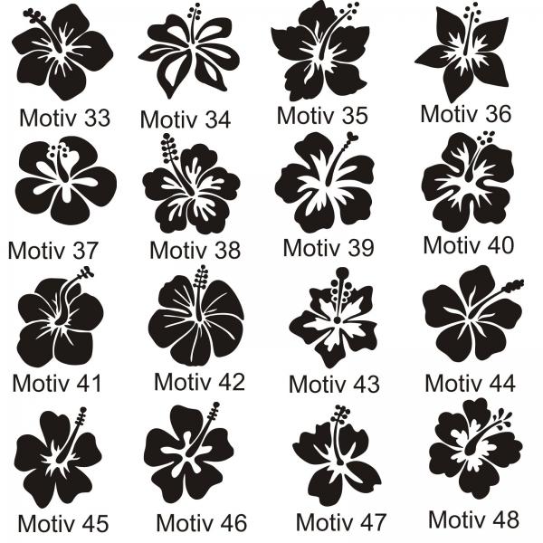 hibiskus hibiscus hawaii wandtattoo wandsticker blumen. Black Bedroom Furniture Sets. Home Design Ideas
