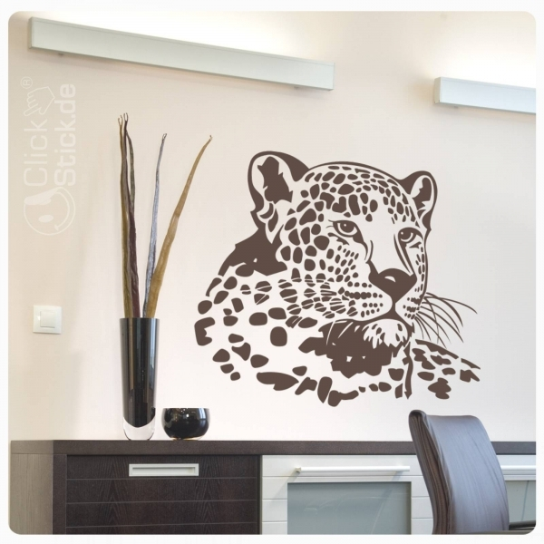 w346 wandtattoo leopard katze wildkatze wandaufkleber afrika wildlife. Black Bedroom Furniture Sets. Home Design Ideas